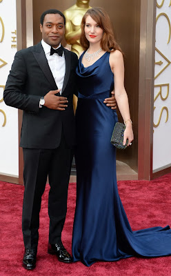 Sari Mercer in a Navy dress at the Oscars 2014