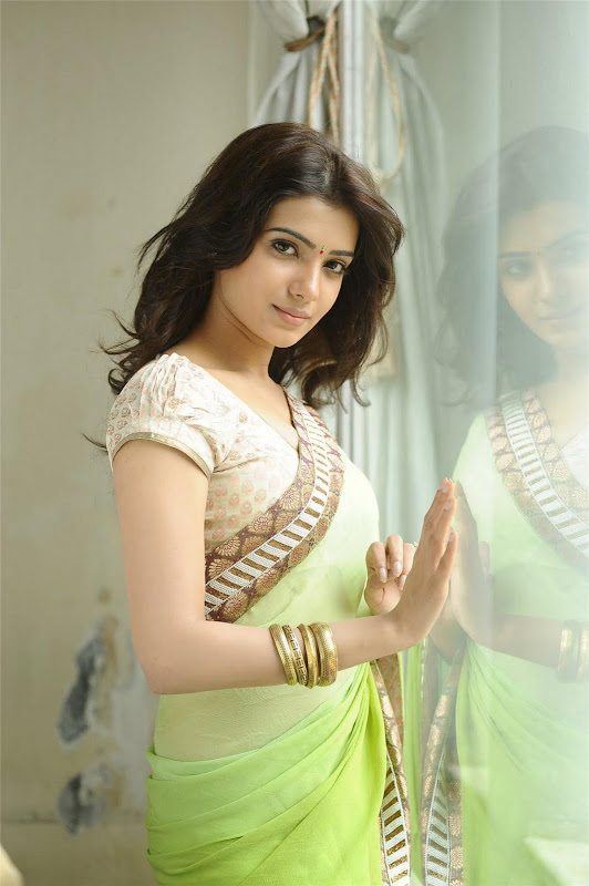 Telugu Lovely Actress Samantha Exclusive Cute Saree Stills sexy stills