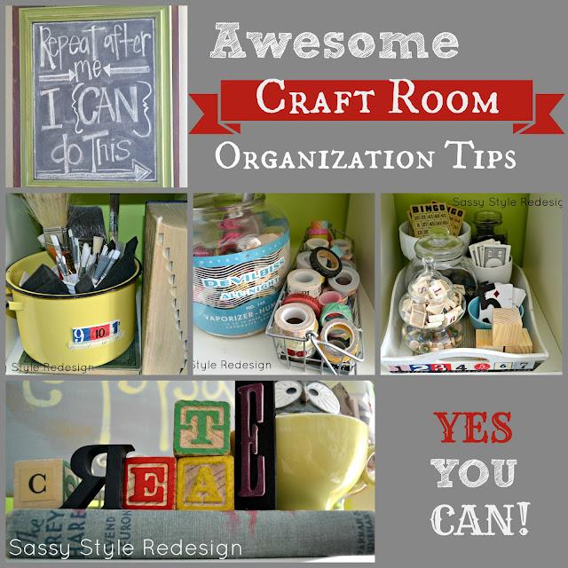 Sassy Style Craft Room Organization Tips