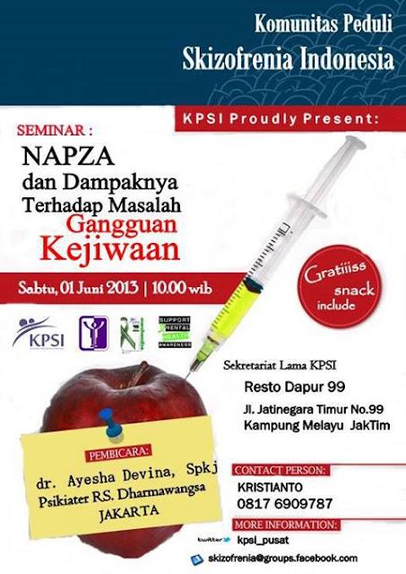 Seminar KPSI tentang 'NAPZA dan Dampaknya Terhadap Masalah Gangguan