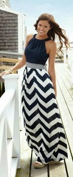 Gorgeous shoulder drapped solid black dress with chevron long maxi skirt fashion