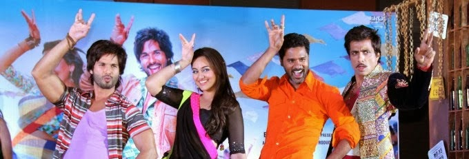 Shahid Kapoor and Sonakshi Sinha for R..Rajkumar music launch