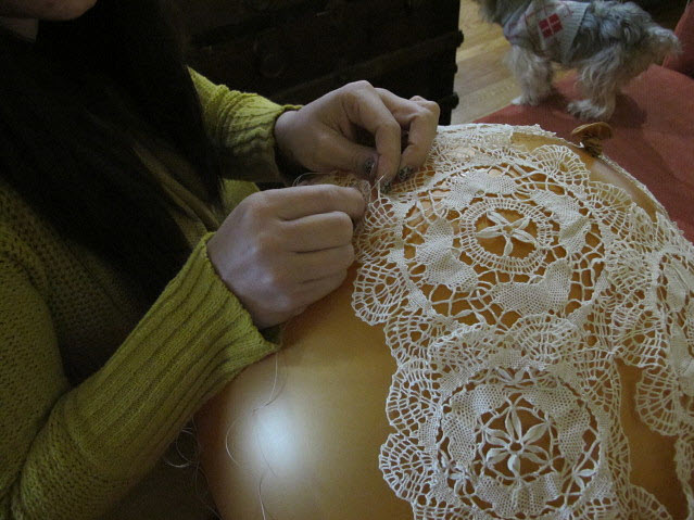 how to make balloon lamp with thread