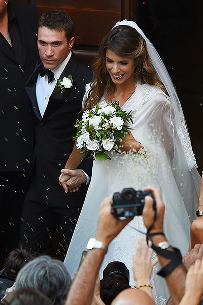 Italian actress and model Elisabetta Canalis married