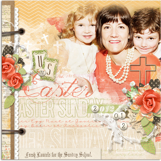 Christian Easter digital scrapbooking layout