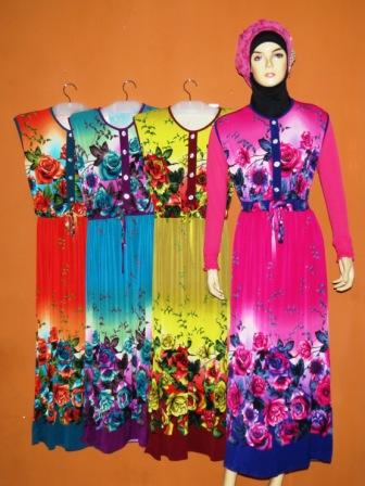 Gamis tanpa lengan gkm4510 grosir baju muslim murah Baju gamis lengan lonceng