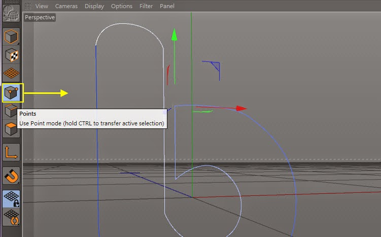 Manipulating Curve in C4D 05