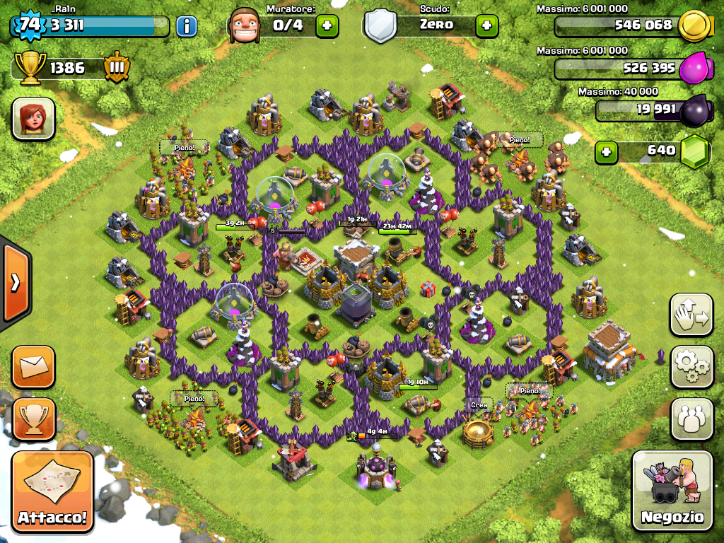 Clash of clans best th8 farming base