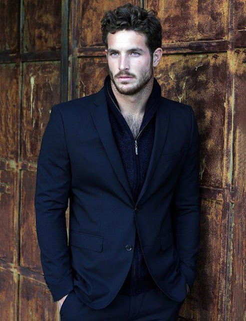 Full black dress and jacket for men