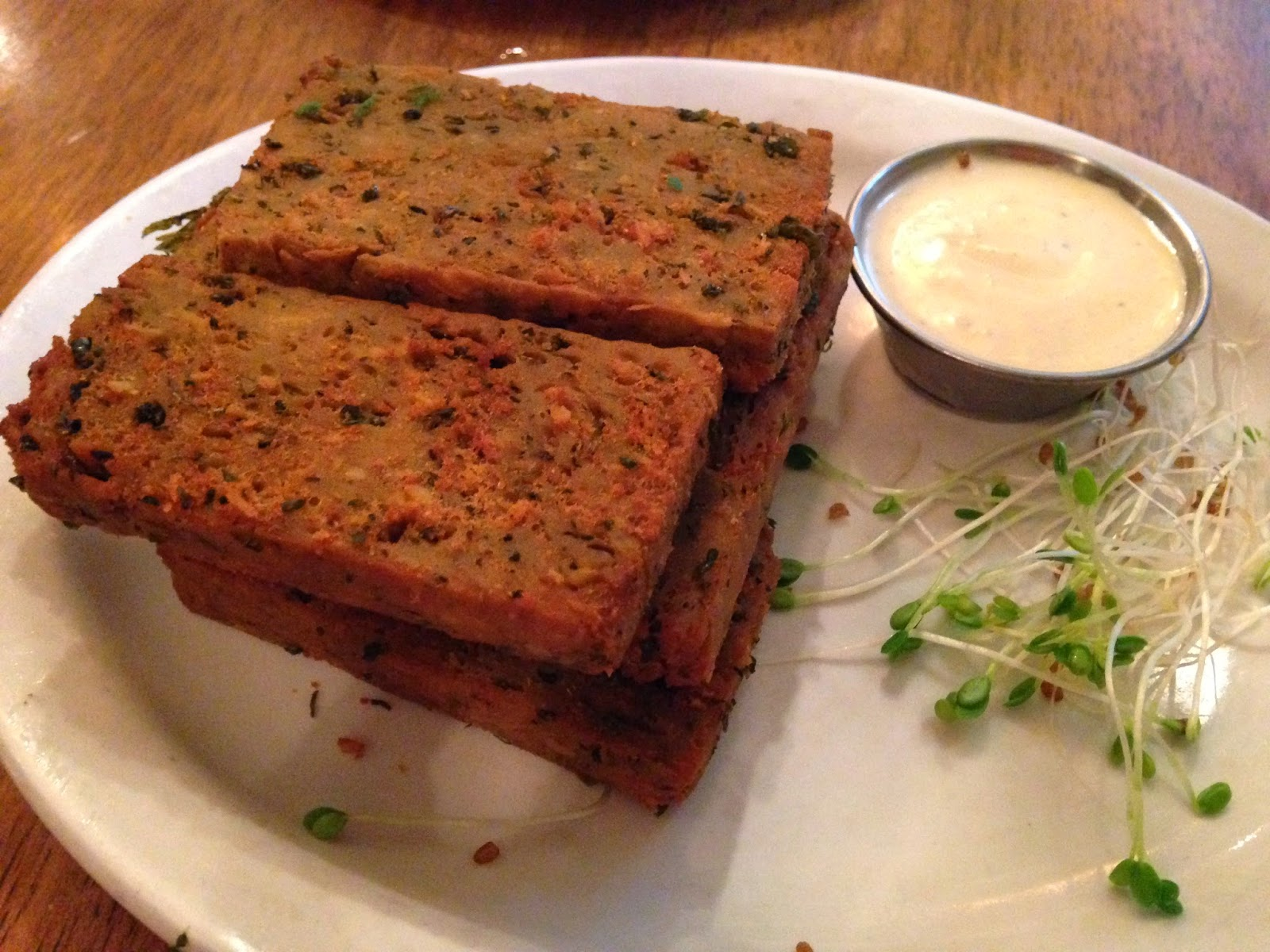 Chickpea Fries with Dipping Sauce - Peacefood Cafe NYC