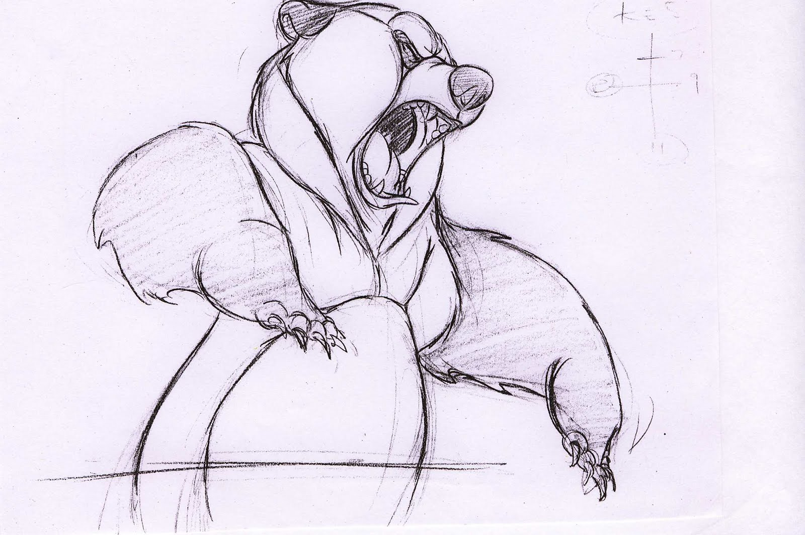 angry bear standing drawing - photo #3