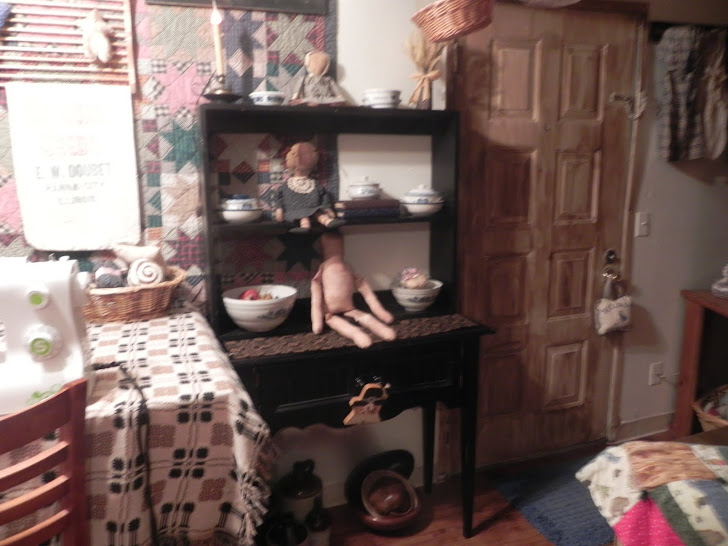 black hutch, dolls fabric for clothes should be arriving tomorrow, LOL