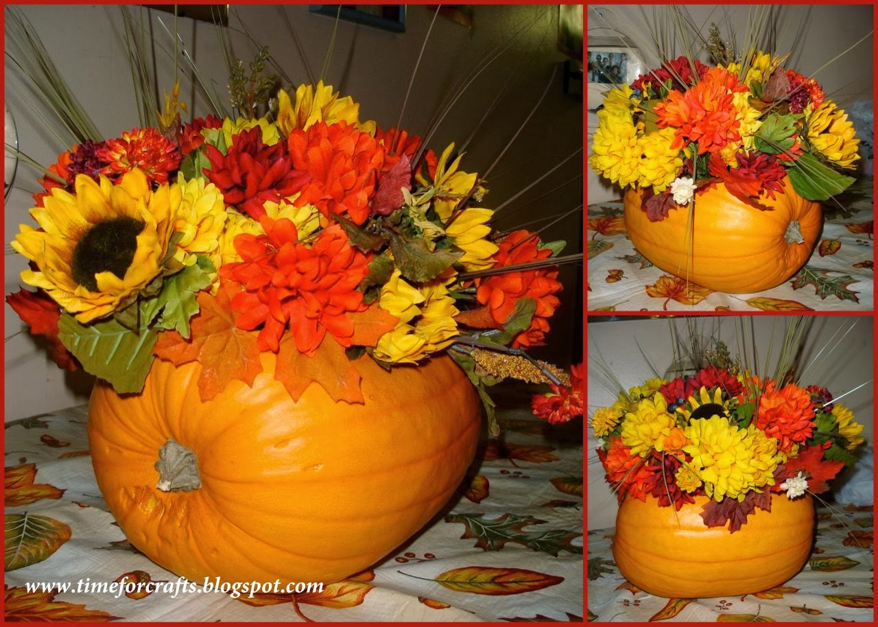 Time for crafts thanksgiving table centerpiece