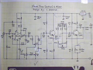 Rangkaian Stereo Tone Control + Mixer