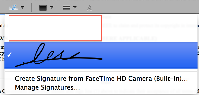 how to add signature in mac preview