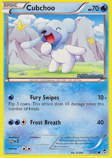 Cubchoo Furious Fists Pokemon Card