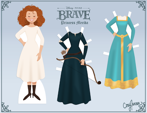 Paper Doll Princess Merida