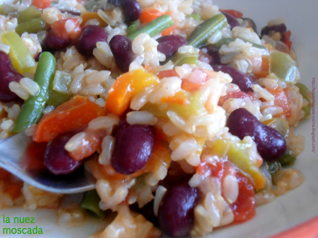 risotto integrale alla messicana - arroz integral a la mexicana