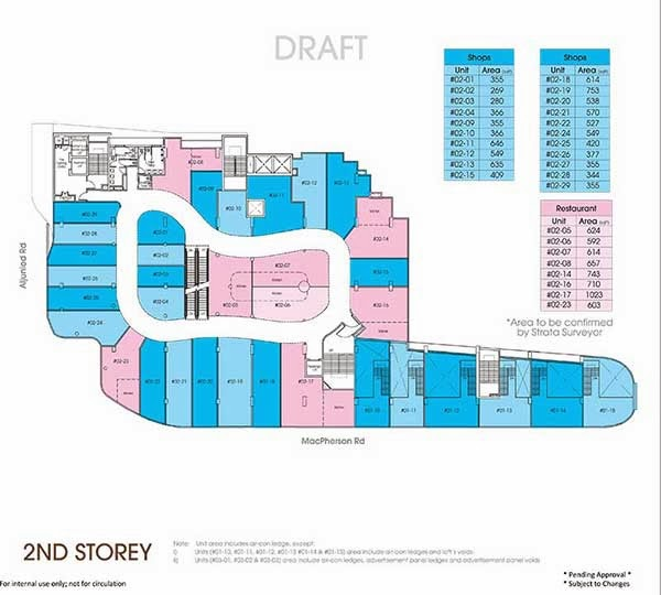 Macpherson Mall 2nd Storey Floor Plan