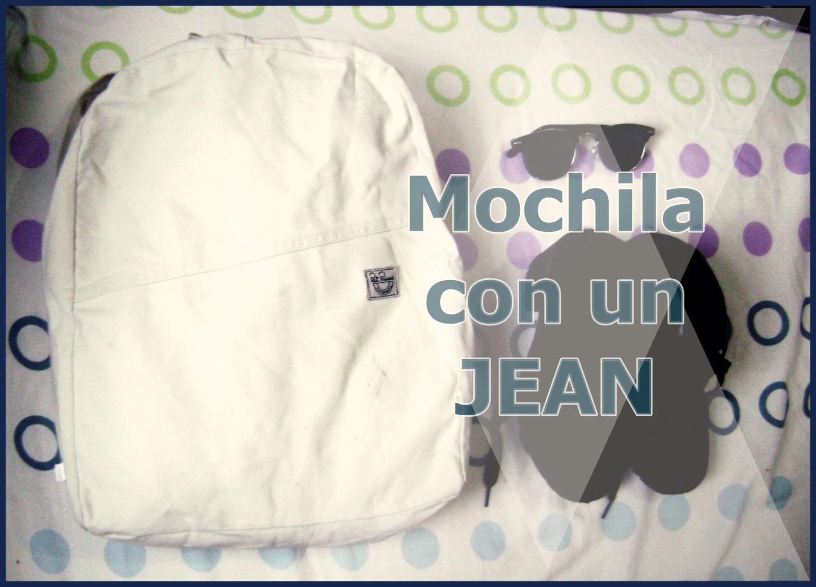 FClaribel: Mochila con un Jean   DIY (patrones)