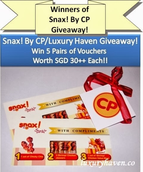 snax cp food vouchers giveaway winners