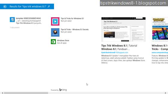bing smart search di windows 8.1