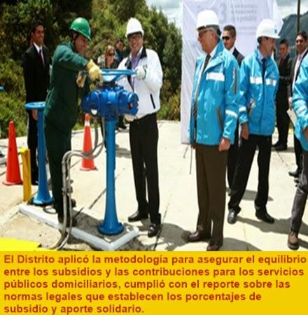 BOGOTÁ: Bogotá, certificada en manejo de recursos de agua potable y saneamiento básico