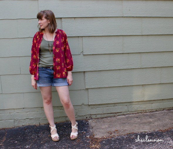 summer weekend look featuring a blouse as a jacket | www.shealennon.com