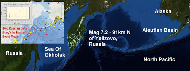 A massive mag 7.2 quake strikes directly under The Zhupanovsky volcano Untitled