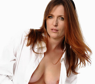Gillian Anderson cleavage oops nip slip in Boogie Woogie photosession UHQ
