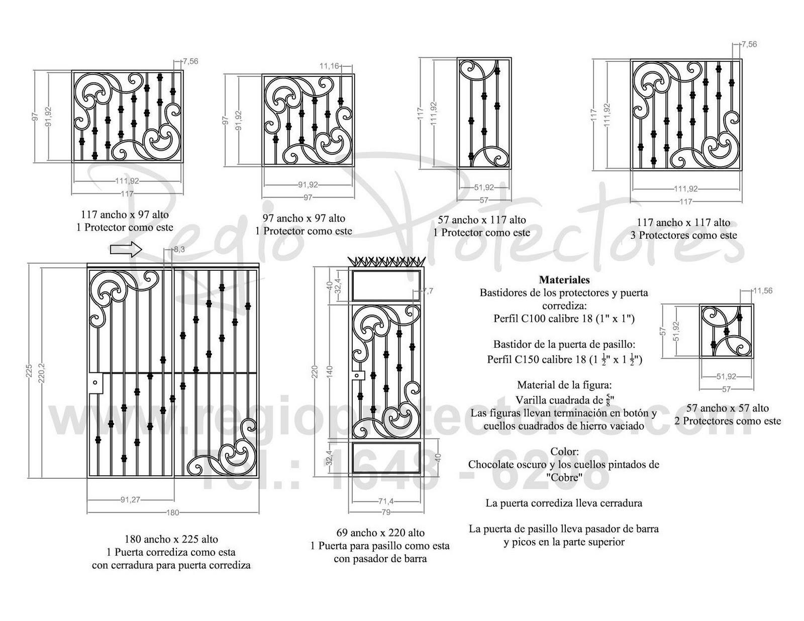 Pin puertas ventanas pasamanos rejas portones portal for Modelos de puertas de herreria