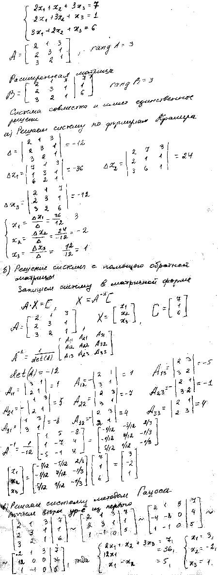 решебник высшей математики