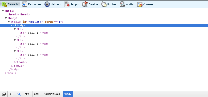 Correct way to find out table row count with jquery for Jquery get the with the table
