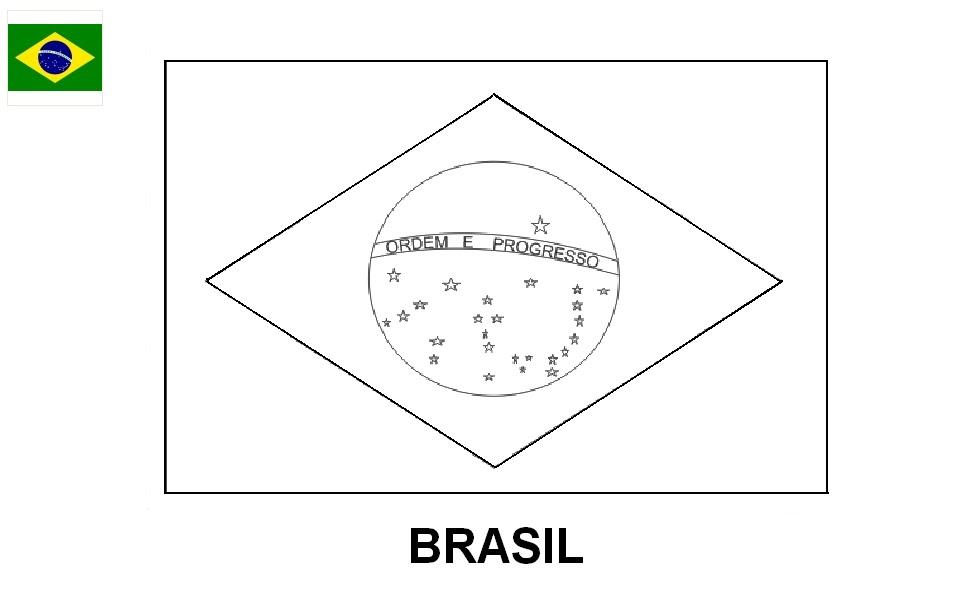 bandeira para colorir desenhos para pintar e imprimir