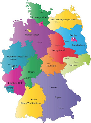 Mappa di Germania Politico