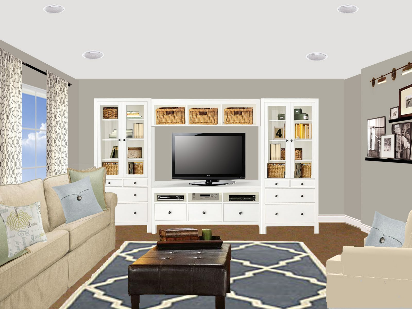 virtual redesign: carrie jo's family room - meadow lake road