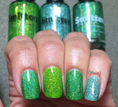 Smitten Polish Poach-Busters vs Not Your Mamas Easter Grass vs Peppermint Patty