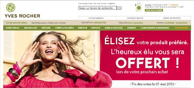 """Jeu-concours """"Élisez votre produit préféré""""  Yves Rocher et gagnez le"""