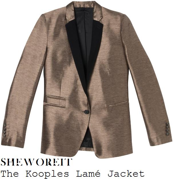 Metallic Suit Jacket Effect Blazer Suit Jacket