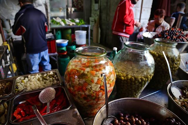 pickle seller, Olives, catania, sicily