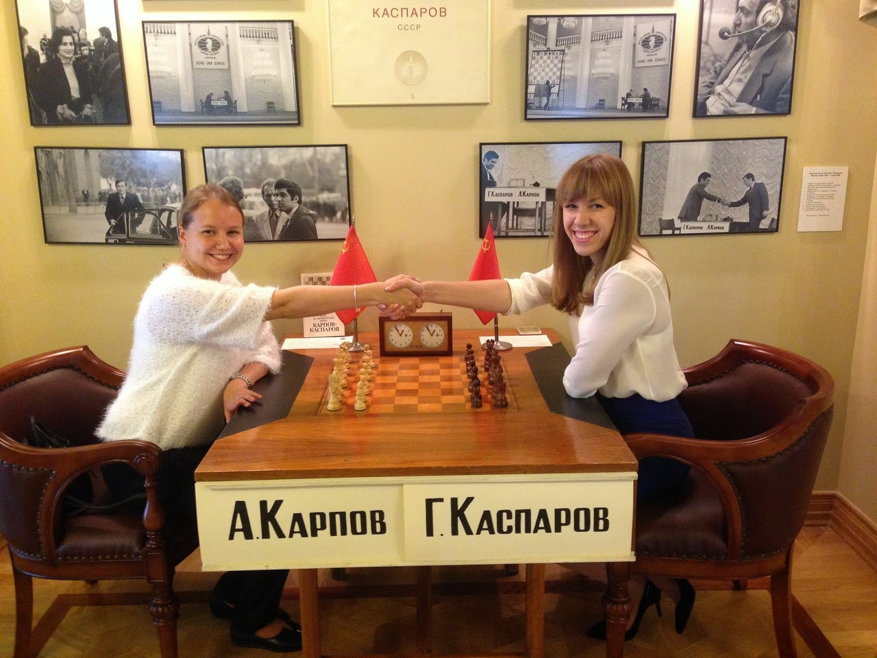 Les grands-maîtres russes Valentina Gunina et Olga Girya au musée russe des échecs Photo © Olga Girya pour Chess & Strategy