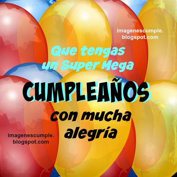 Super Mega Cumpleaños Feliz. Tarjeta linda | Imágenes de Cumpleaños