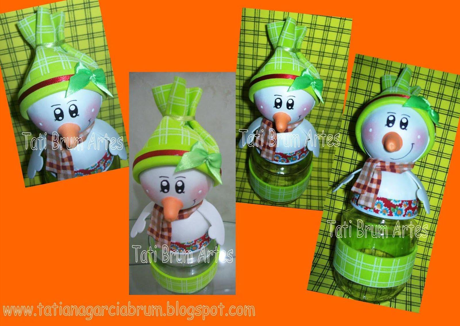 Tati Brum - Artes em EVA e MDF: Boneco de Neve em EVA 3d - Estampa