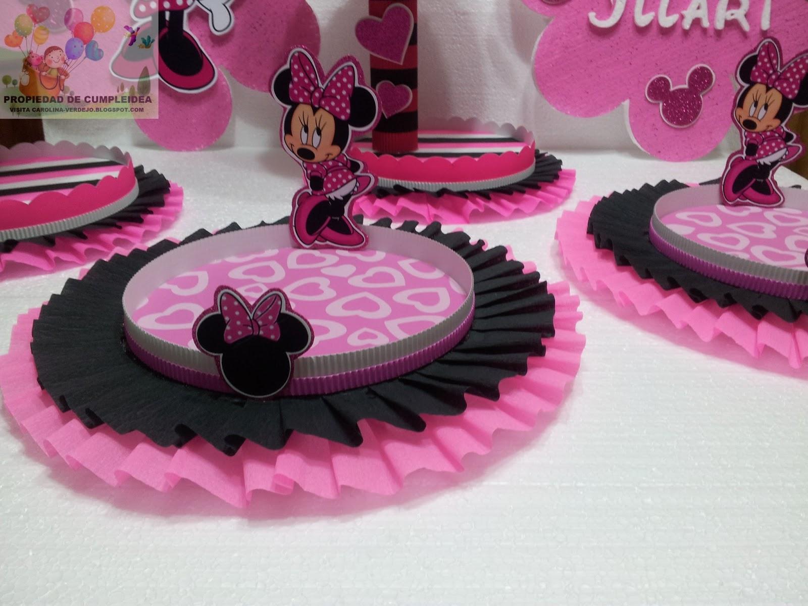 Decoraciones infantiles minnie mouse - Adornos fiesta de cumpleanos ...