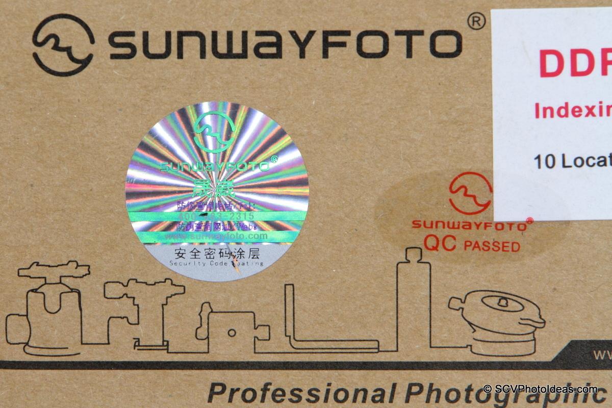 Sunwayfoto Laser Hologram detail