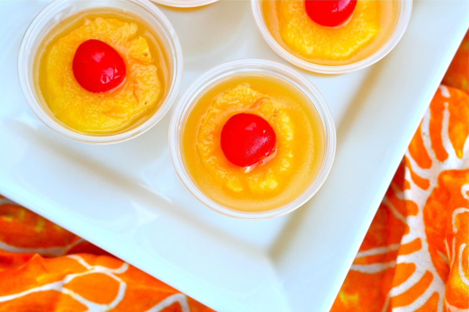 Easy Pineapple Upside Down Cake Jello Shots