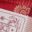 Redwork Theodora's stitching