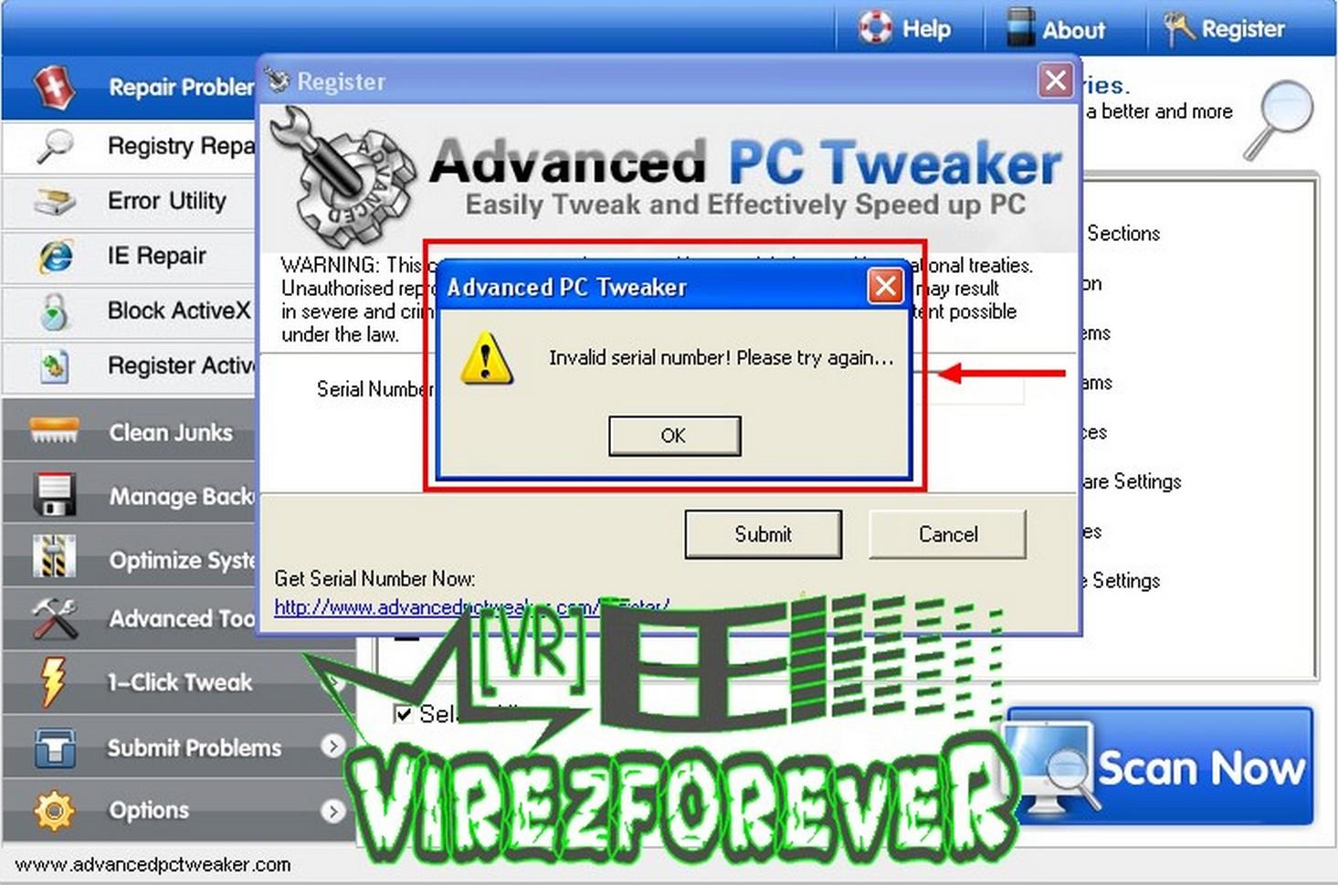 Advanced PC Tweaker keygen