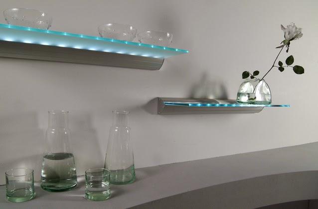 estantes para bao de cristal luz led estantes para bao de vidrio