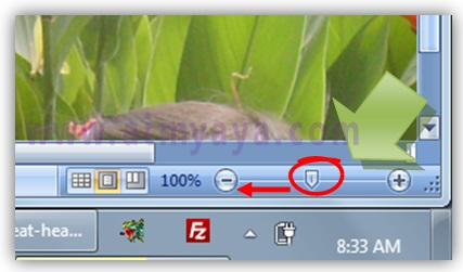 Gambar: Cara mengatur zoom / pembesaran tampilan di microsoft excel